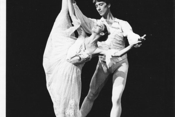 Martine Harley in The Nutcracker 1980, Snow Queen with Sven Toorvald, photo by Steve Mason